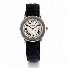 Cartier Must, Ref. 1800-1, n° 007387, vers 1995.    Une montre rond