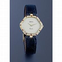 Delaneau, n° 1679, vers 2005.    Une montre de dame hexagonale en o