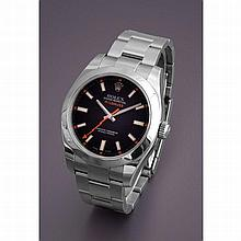 Rolex, Milgauss, Ref. 116400, n° V237xxx, vers 2008.    Une belle e