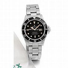 Rolex, Submariner date, Ref. 16800, n° 986xxx, vendue le 1er août 1989.