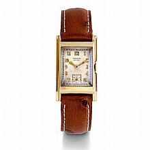 Jaeger, n° 70596, vers 1930.    Très élégante montre rectangulaire
