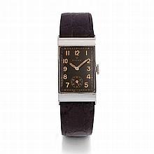 Rolex, ref 3861, n° 043081, vers 1935.    Une rare montre rectangul