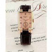 Patek Philippe, Ref. 1480, monochrome pink, n° 509.xxx, fabriquée en 1946,