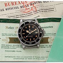Rolex, Submariner 200m, Ref. 5512, n° 124xxxx, 1965.    Une rare et