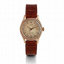 Rolex, Datejust, n° 10983, vers 1950.    Une belle montre ronde en