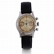 Wittnauer, n°5117447, vers 1960.    Un chronographe en acier 2 comp