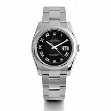 Rolex, Datejust, Ref. 116200, n° M977394, vers 2009.    Une belle m