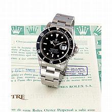 Rolex, Submariner Date, Ref. 16610, n° L399xxx, vendue le 5 octobre 1989.