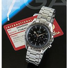 Omega, Speedmaster Broad Arrow, Ref. 35945000, n° 77064277, vendue en décembre 2007.