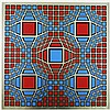Vasarely, Victor  1908-1997, silkscreen, artist proof, before the edition of 190, 600 x 600 mm., ÒUntitled'