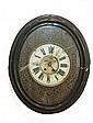An eouil de boeuf wall clock, ca 1900, height 58