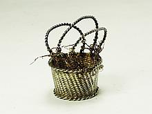 A silver miniature fire basket Amsterdam 18th Century