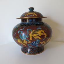 Chinese Qing Dynasty Cloisonne Vase