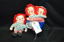 Vintage Raggedy Ann & Andy Hugging Dolls 7