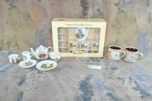 Lot of various Steiff tea set pottery