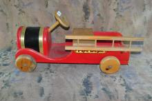 VINTAGE WOOD CHILDS FIRE TRUCK