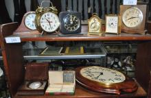 LOT OF MISC CLOCKS WITH VARIOUS STYLES APPROX 9