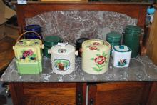 LOT OF 9 PORCELAIN CANNISTERS