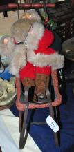 SANTA DOLL ON VINTAGE SLEIGH