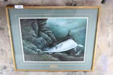 Fish art Lithograph Takashisnojo 1983