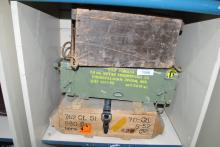 LOT OF 3 MISC MILITARY AMMO CRATES