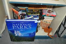 LARGE LOT OF YELLOWSTONE BOOKS AND VHS VIDEO SETS
