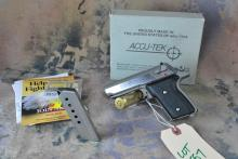 ACCU-TEK .380 AUTO PISTOL w/original box & manual