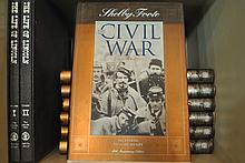 LOT OF SHELBY FOOTE CIVIL WAR BOOKS & 2 THE LIFE