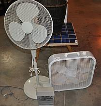 LOT OF 2 HOUSE FANS & HEATER