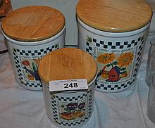 LOT OF 3 COUNTRY GARDEN SIGNATURE COOKIE JARS