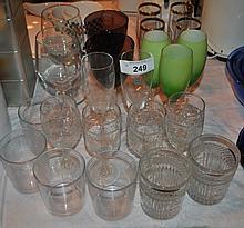 LOT OF DECORATIVE WINE GLASSES & BRANDY CUPS