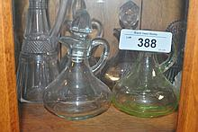 LOT OF VINTAGE MINI GLASS DECANTERS