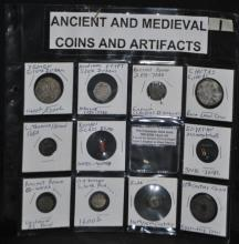 Collection of Ancient Coins & Artifacts