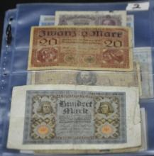 Collection of 20 World Banknotes