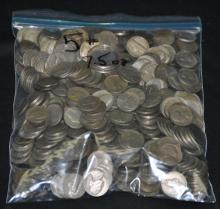 5 LBS 7.5 Oz Unsearched 1940-1960 Nickels
