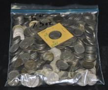5 LBS 7.3 Oz Unsearched 1940-1960 Nickels