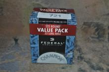525 ROUNDS OF FEDERAL .22 LR