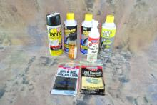LOT OF GUN CLEANING CHEMICALS
