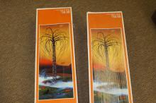 (2) outdoor lighted trees (in box)