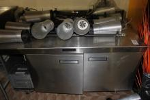 Delfield refrigeration unit with Stainless Steel Prep Top (with center cutout)