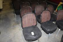 (21) Gasser  Stripped Back, Black seat cushion, Swivel chair,  Model 8ACE-1133-S