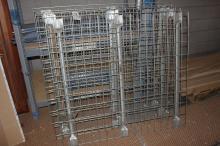 (4) Pallet rack wire decking 46