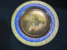 CZEC. HANDPAINTED DECOR PLATE 1857 TRADE MARK