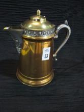 VICTORIAN COPPER TEA POT   9 IN TALL