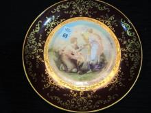 AUSTRIA PORTI PLATTER SIGNED  CIR MID 1800'S  10,5