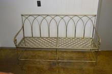French Polished Metal Settee 36