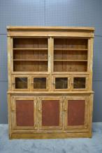 2-Piece Painted General Store Display Cabinet 96