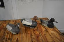 3-Piece Wooden Decoy Lot 7 1/4