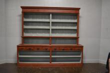 2-Piece Painted Country Store Display Cabinet 98 1/2