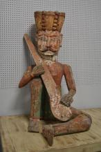 Rare Folk Art Carved Wooden Statue came from early tabacco plantation in North Carolina 49